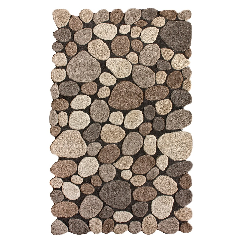 nuLOOM Hand Tufted Wool Pebbles Area Rug - Natural (5'x8')