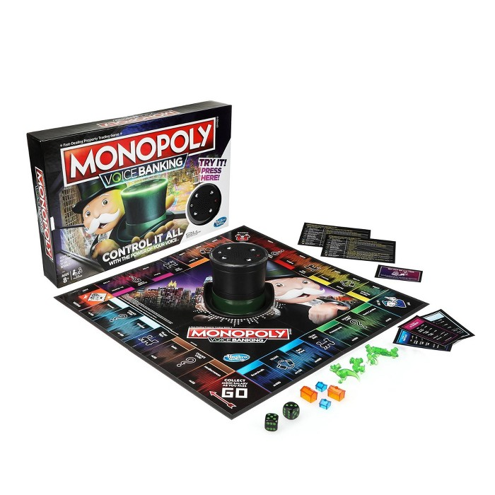 Monopoly Voice Banking Electronic Family Board Game - image 1 of 8