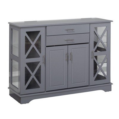 Kendall Buffet Servers Gray - Buylateral