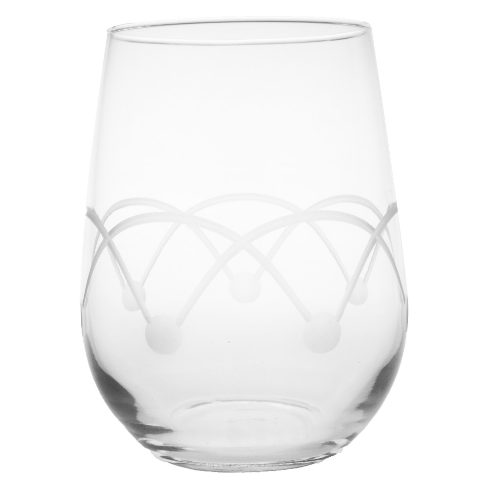 Image of 17oz 4pk Disco Stemless Wine Glasses - Rolf Glass, Clear