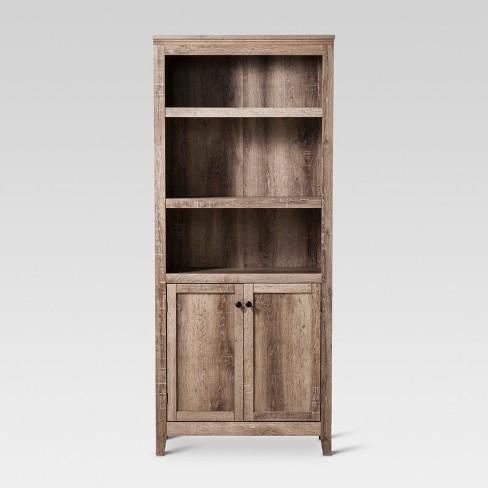 72 Carson 5 Shelf Bookcase With Doors Threshold