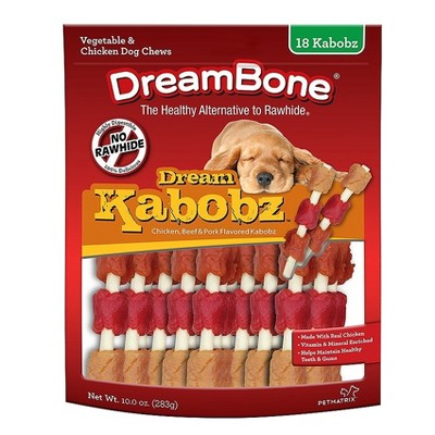 DreamBone Rawhide Free Dream Kabobz with Real Chicken Dog Treats 18ct