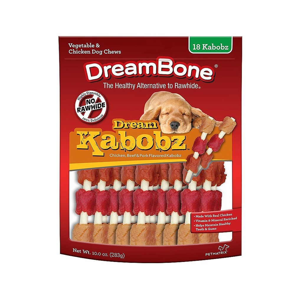 DreamBone Dream Kabobz with Real Chicken Dog Treats 18ct