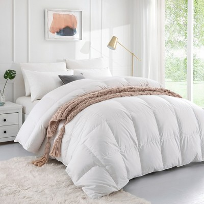 Puredown Luxury 800 Fill Power White Goose Down Comforter for Winter Cotton Cover