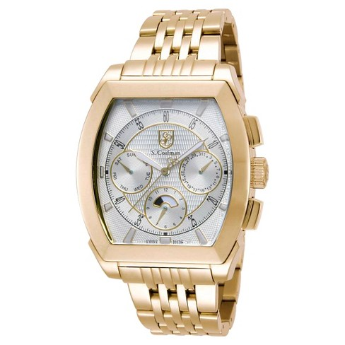 Men's Invicta SC0095 Quartz Chronograph Silver Dial Link Watch - Gold - image 1 of 1