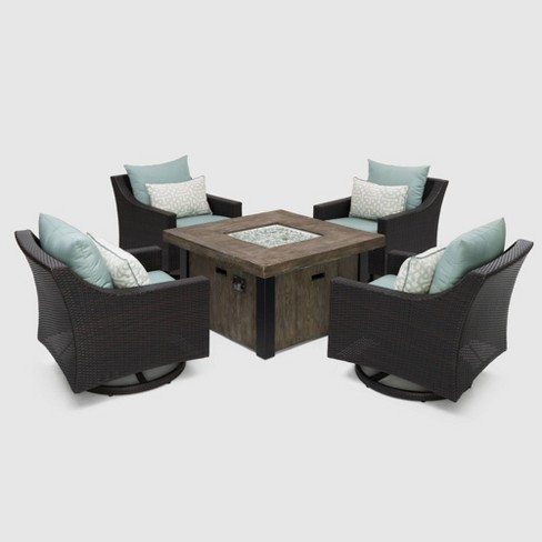 Deco 5pc Motion Fire Seating Set Spa Blue - RST Brands - image 1 of 4