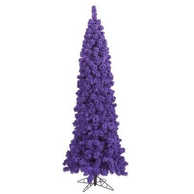 Vickerman Flocked Purple Fir Artificial Christmas Tree