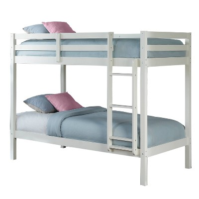 Twin Over Twin Caspian Bunk Bed White - Hillsdale Furniture