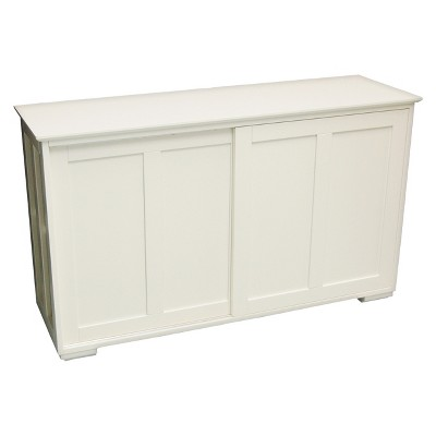 Pacific Stackable Sliding Wooden Doors Cabinet - Off White - TMS