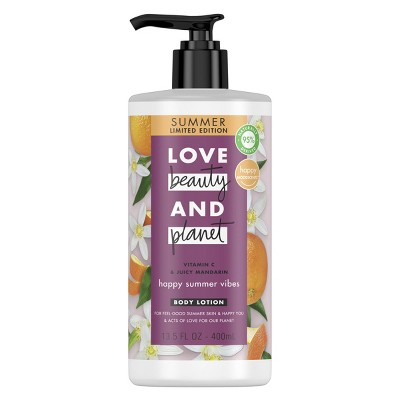 Love Beauty and Planet Happy Summer Vibes Vitamin C and Juicy Mandarin Lotion - 13.5oz