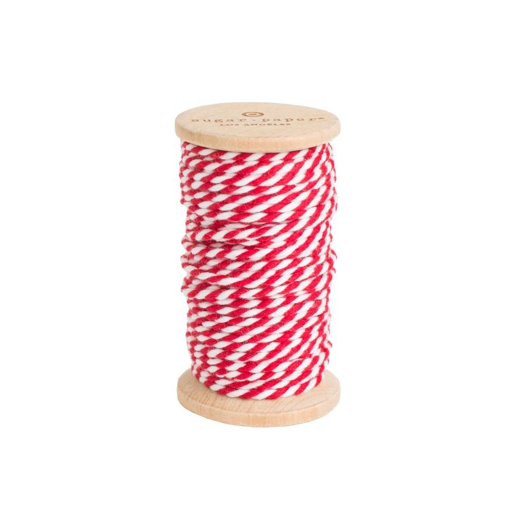 Decorative Ribbon Red/ White - Sugar Paper