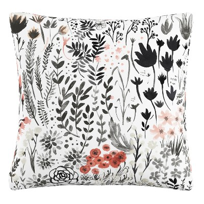 Red Floral Throw Pillow - Skyline Furniture