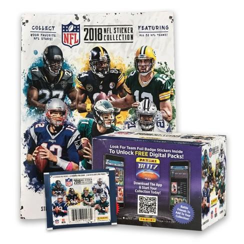 e929c9a57ca Panini NFL Football 50 Pack Stickers + Album   Target