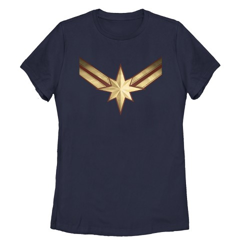 Women's Marvel Captain Marvel Star Symbol Costume T-Shirt - image 1 of 2