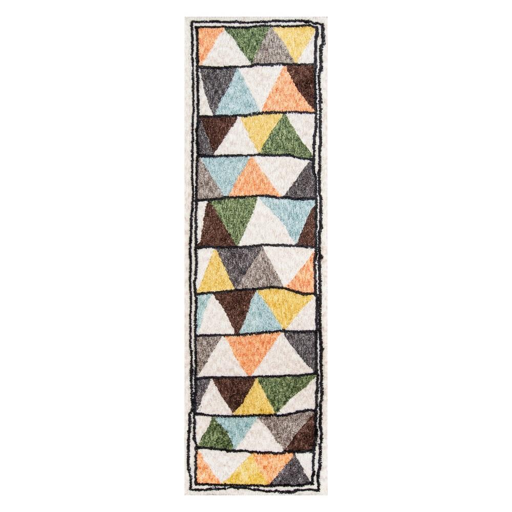 2'3X8' Geometric Tufted Runner - Novogratz By Momeni, Multi-Colored