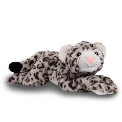 "FAO Schwarz Adopt-A-Pets Snow Leopard 22"" Stuffed Animal with Adoption Certificate"