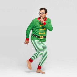 Men's Holiday Elf Pajama Set - Wondershop™ Green