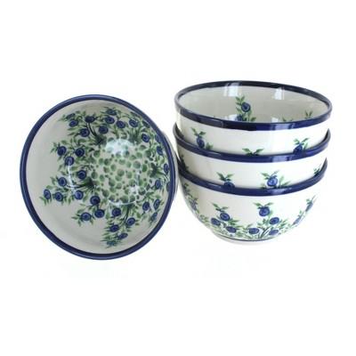 Blue Rose Polish Pottery Hyacinth Dessert Bowl