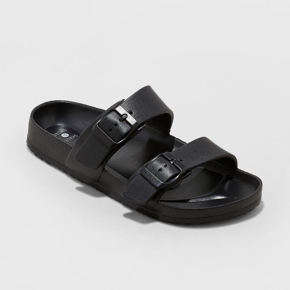Women's Neida Wide Width Eva Two Band Slide Sandals - Shade & Shore Black 7W, Size: 7 Wide