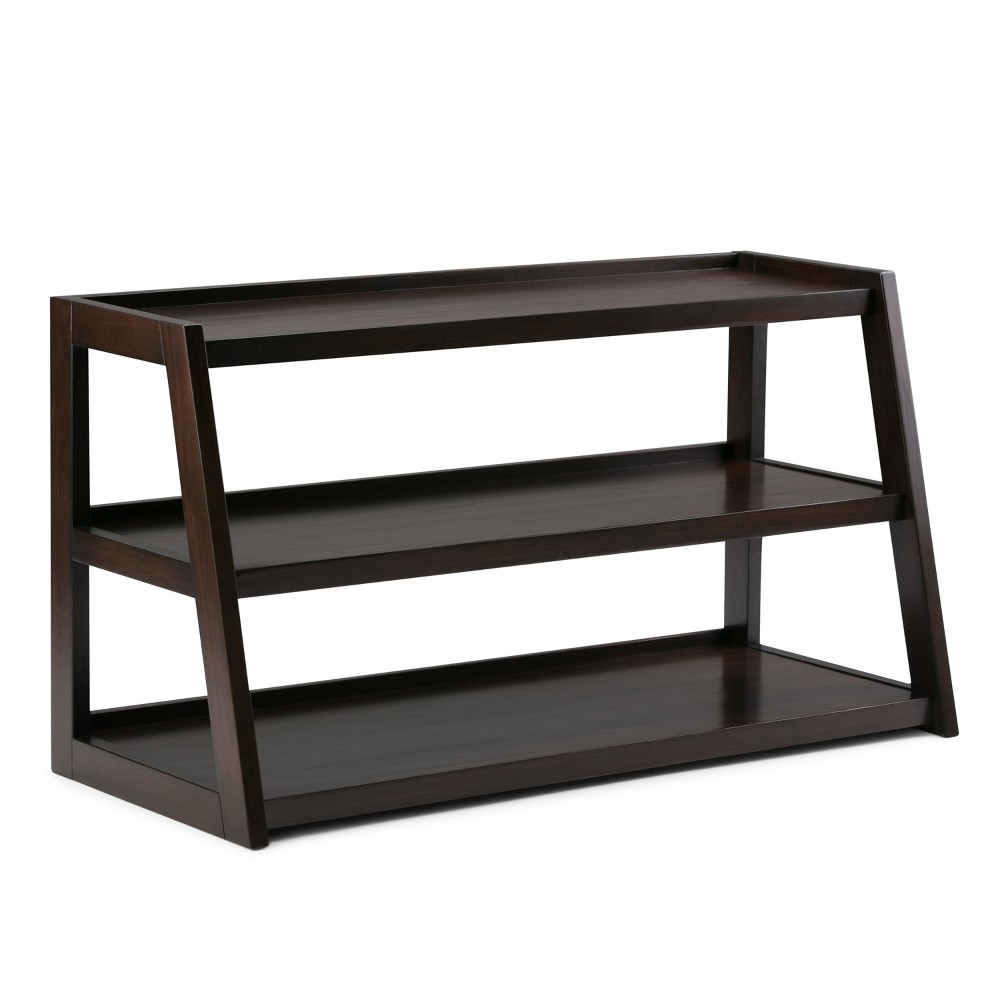 Hawkins Solid Wood TV Media Stand Dark Chestnut Brown For TVs up to 50 - Wyndenhall