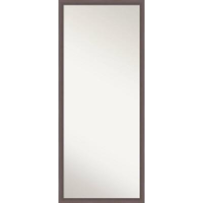 """26"""" x 62"""" Urban Framed Full Length Floor/Leaner Mirror Pewter - Amanti Art"""