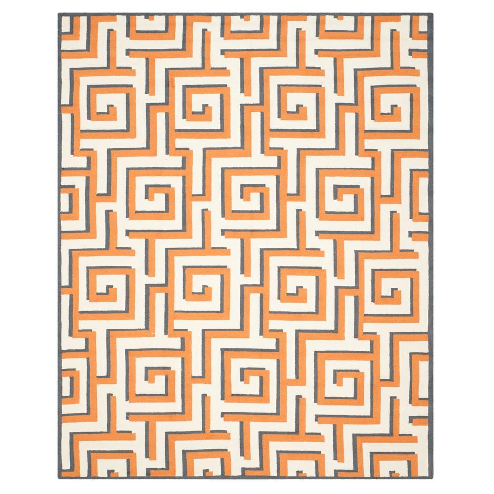 Ivory/Brown Geometric Hooked Area Rug 8'X10' - Safavieh, Ivorynbrown