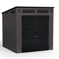 7'x 7' Modernist Storage Shed Brown - Suncast