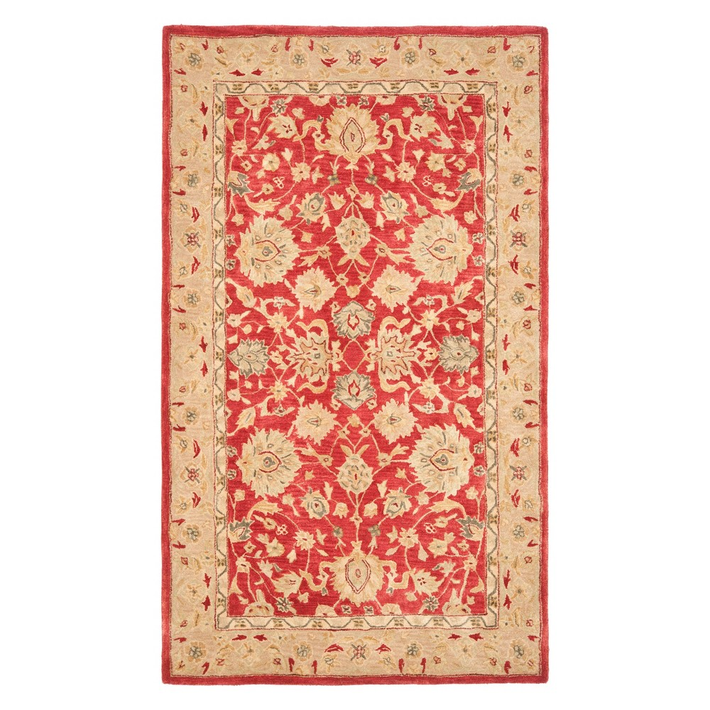 6 X9 Floral Area Rug Red Ivory Safavieh