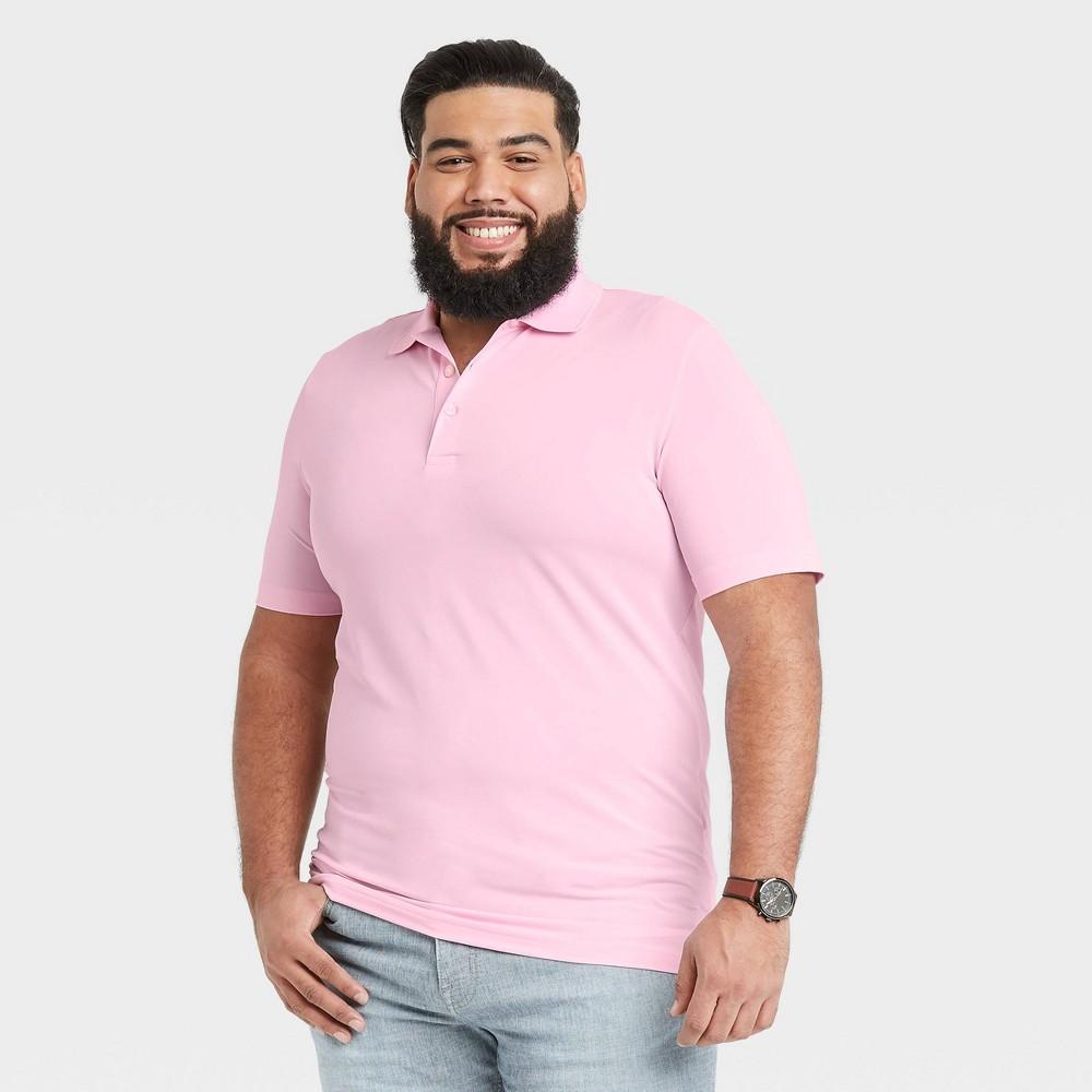 Men 39 S Big 38 Tall Short Sleeve Performance Polo Shirt Goodfellow 38 Co 8482 Pink 3xb