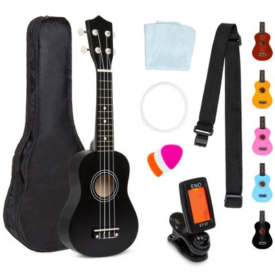 Best Choice Products 21in Acoustic Basswood Ukulele Starter Kit w/ Gig Bag, Strap, Tuner, Extra Strings