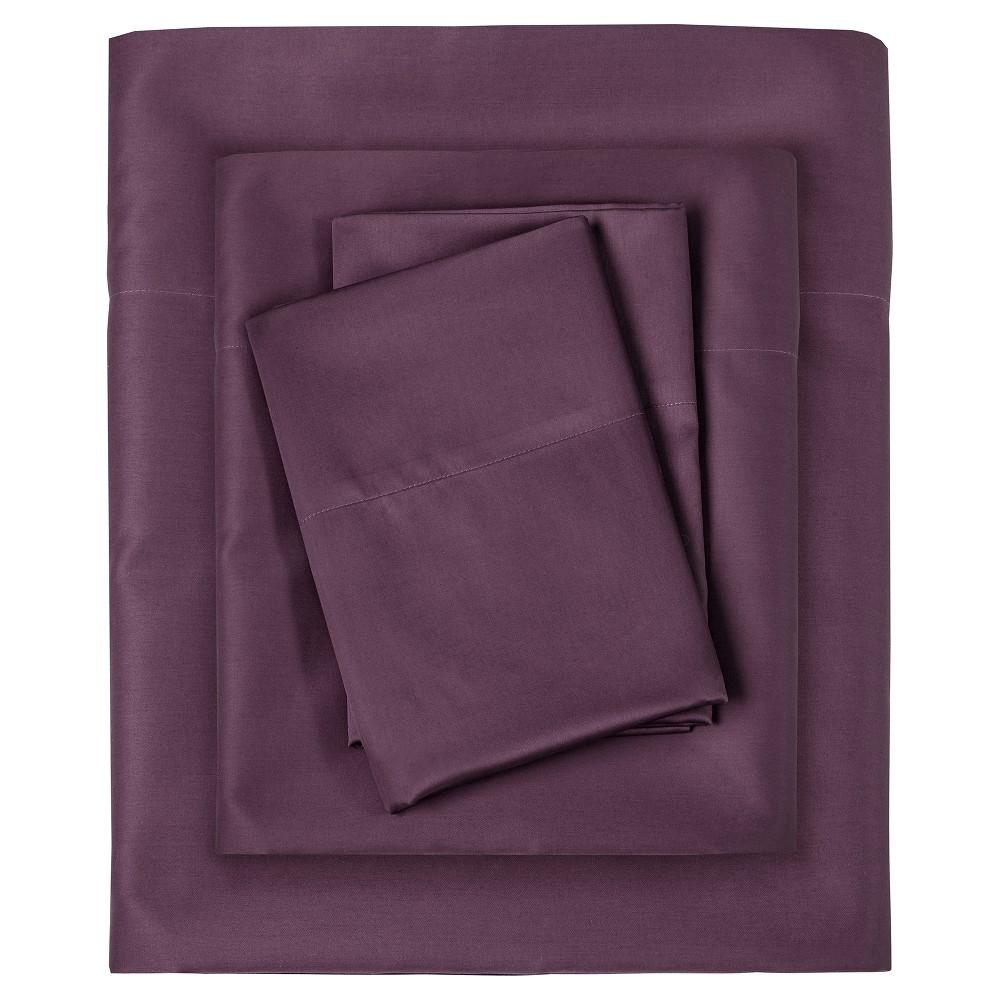 Liquid Cotton Sheet Set (Full) Purple