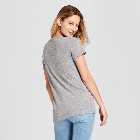 bb2be3b500 Women's Monterey Pocket V-Neck Relaxed Fit Short Sleeve T-Shirt - Universal  Thread™ Gray S