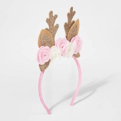 Baby Girls' Reindeer Dear Headwrap - Cat & Jack™ Pink