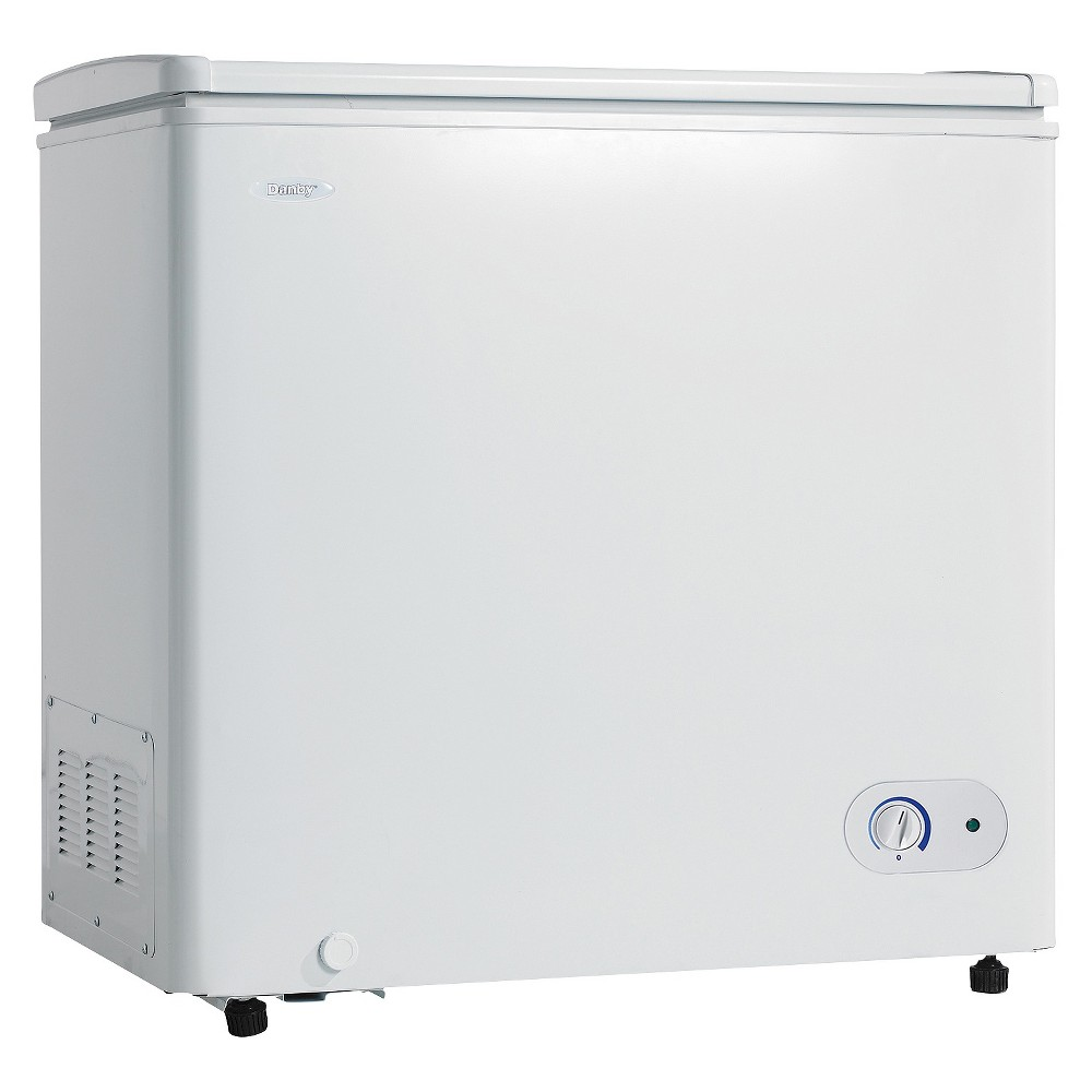 Danby 7.2 Cu. Ft. Chest Freezer - White DCF072A2WD This dependable chest freezer by Danby is the perfect addition to any type of household or cottage. Your electricity bills will be noticeably reduced due to the efficient and smart foam-insulated cabinet and rounded lid. The easy-to-access front-mount mechanical thermostat allows you to easily and quickly program the unit to the desired temperature. There's more than enough storage room in this elegant appliance as this spacious unit offers 7.2 cubic feet of space without taking up too much room. This popular model comes with a convenient manual-defrost system and drain along with a strong vinyl-coated basket to separate and store your most popular foods. The interior liner is designed for easy cleaning and the freezer comes with a worry-free 12 month warranty on parts and labor along with convenient in-home service. Gender: unisex.
