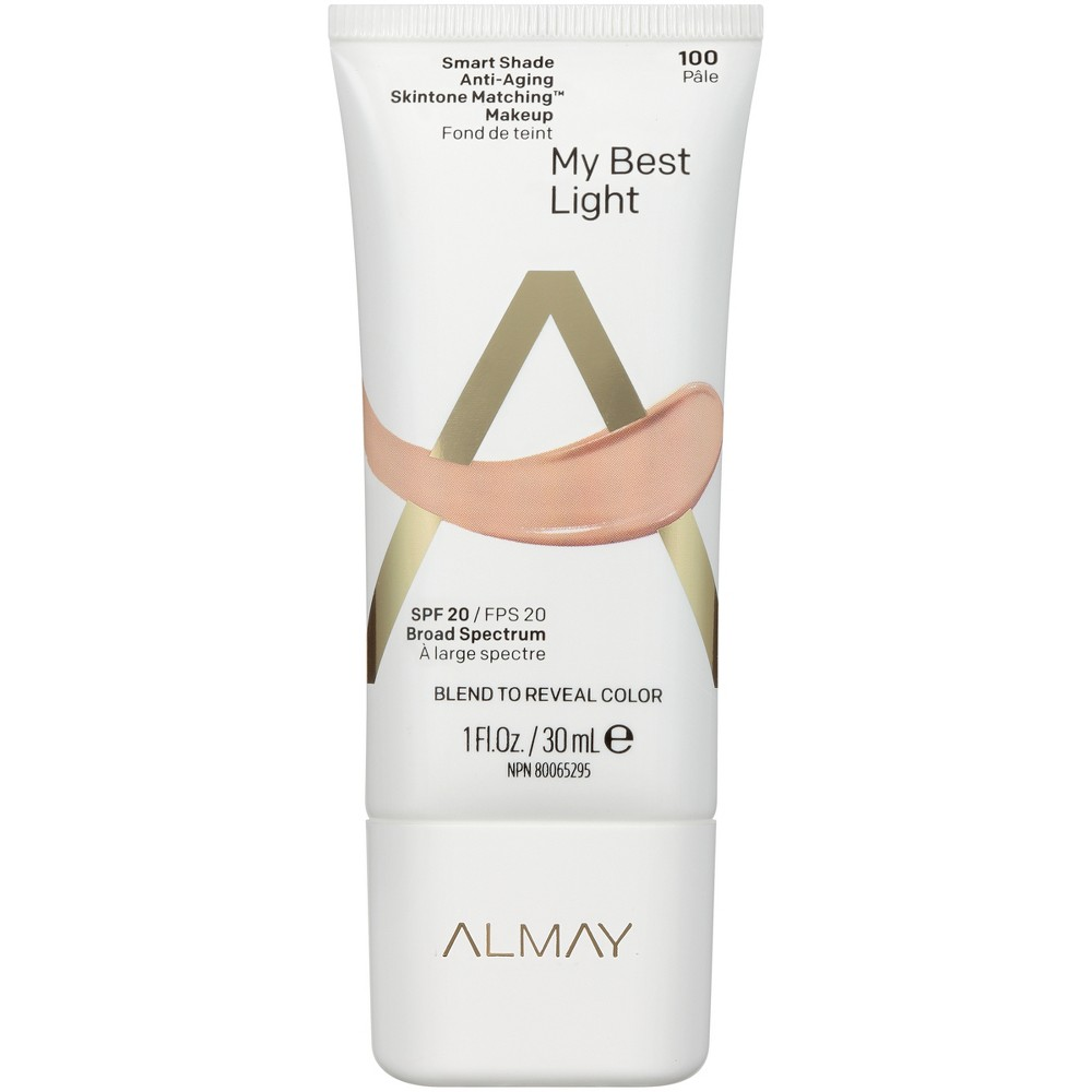 Almay Smart Shade Anti-Aging Skintone Matching Makeup 100 My Best Light - 1 fl oz