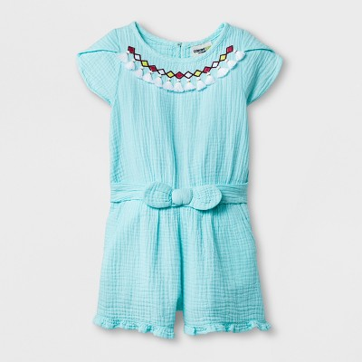 Genuine Kids® from OshKosh Toddler Girls' Romper - Sea Foam Green 12M
