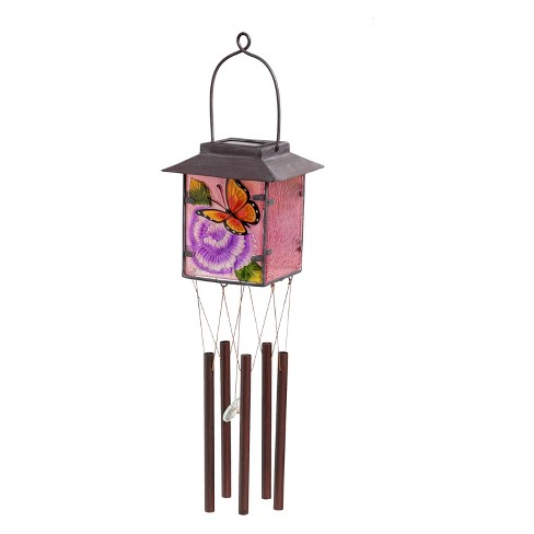 "23.25"" H Glass Wind Chime - Evergreen - image 1 of 2"