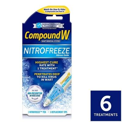 Compound W NitroFreeze Wart Remover Maximum Freeze - 6 Applications