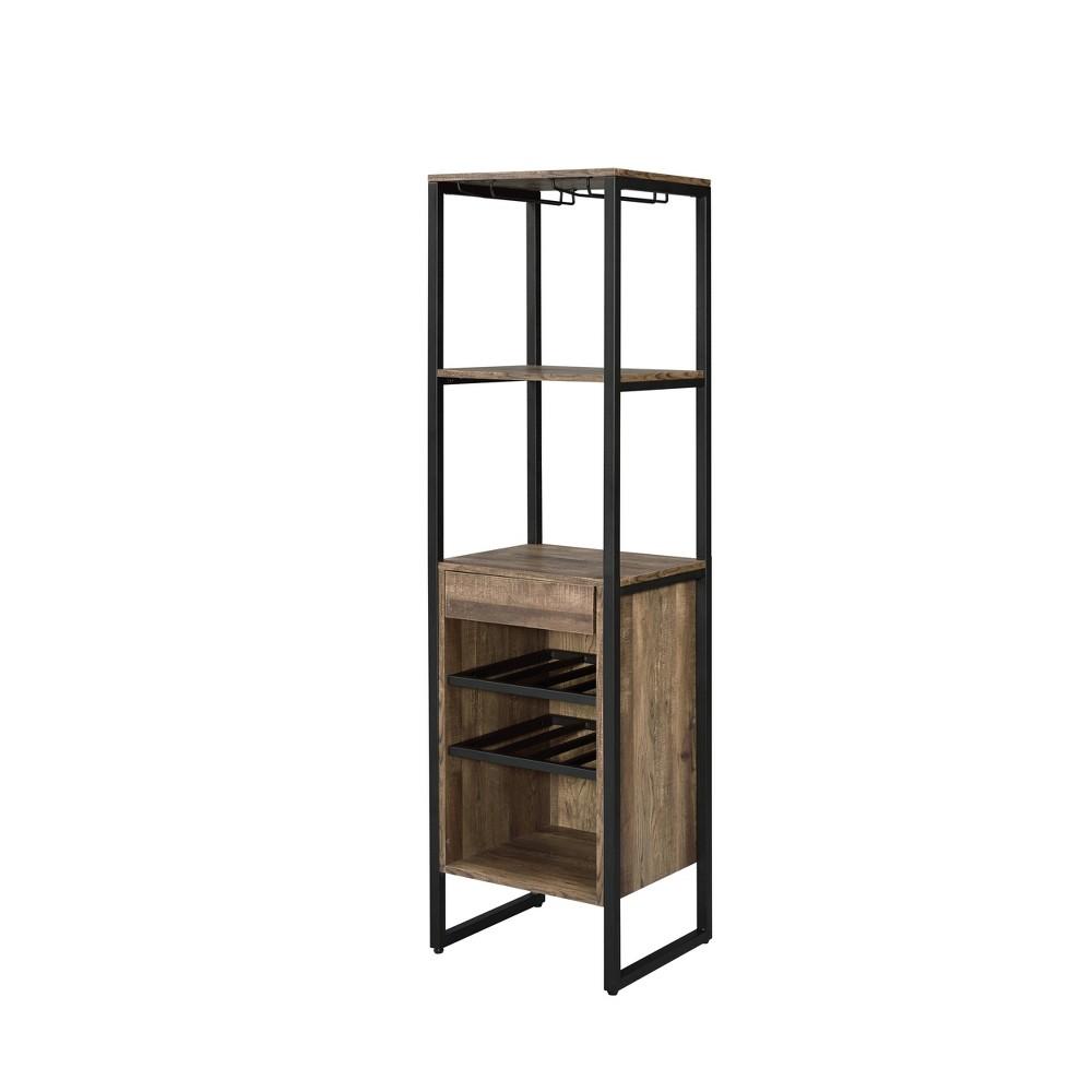 Narik Wine Rack Weathered Oak - Acme Furniture Narik Wine Rack Weathered Oak - Acme Furniture