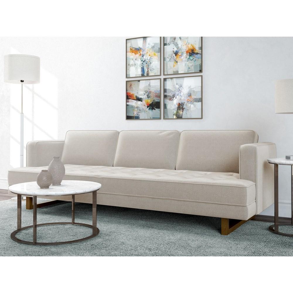 Pearl ModernTufted Sofa Oatmeal - AF Lifestlye