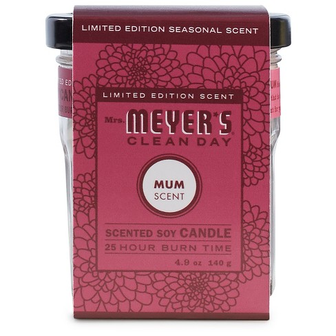 Mrs. Meyer's® Mum Soy Glass Candle - 4.9oz - image 1 of 1