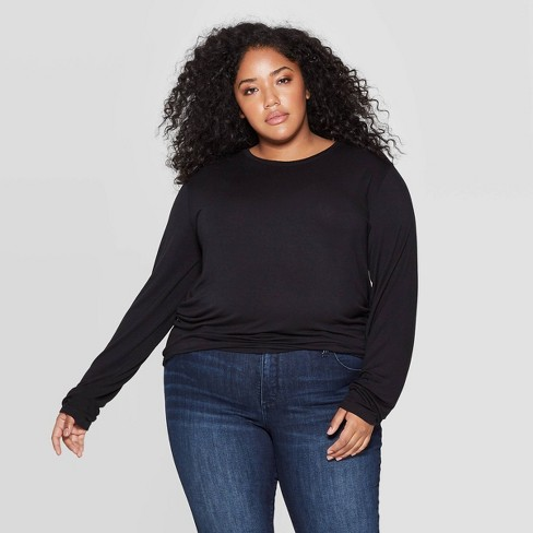 superior quality new appearance big discount Women's Plus Size Long Sleeve Crewneck T-Shirt - Universal Thread ...
