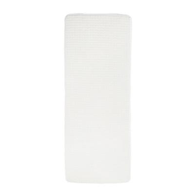 Jacquard Memory Foam Extra Long Bath Mat White - Yorkshire Home