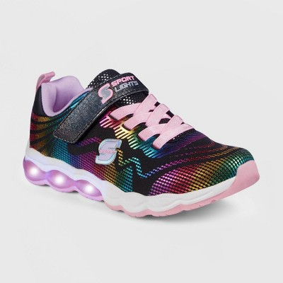 Girls' S Sport by Skechers Azariah Light-Up Apparel Sneakers - Black