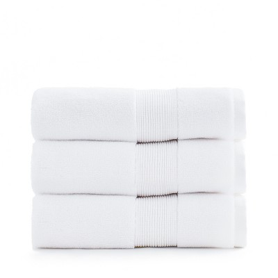 Miracle USA Grown Premium Supima Cotton Silver Ion Antimicrobial Anti Odor Luxury Ultra Soft Plush Fade Resistant Bathroom Hand and Face Towel, White