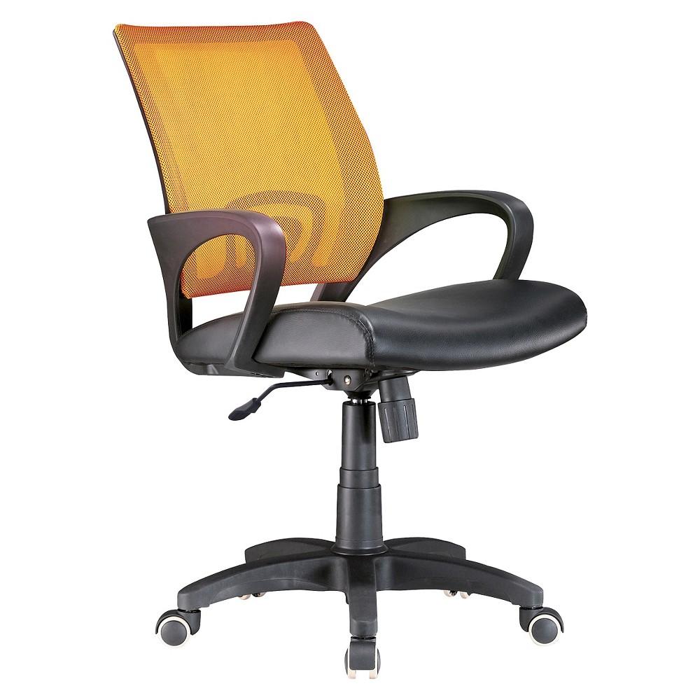 Lumisource Officer Office Chair - Tangerine, Orange/Black