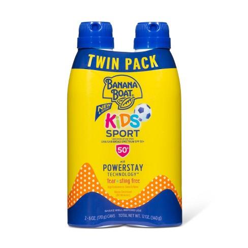 Banana Boat Kids Sport Sunscreen Spray Twin Pack - SPF 50 - 12oz - image 1 of 4