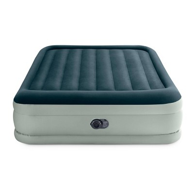 "Intex Elevated 18"" Premium Comfort Queen Air Mattress with Internal Pump"