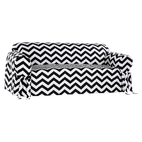 Black White Chevron Sofa Slipcover Target