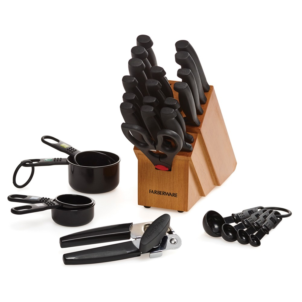 Image of Farberware 27pc Cutlery and Gadget Set, Black